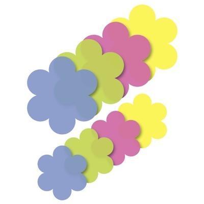 List origami květ 40ks - žlutý/růžový/zelený/modrý - 1