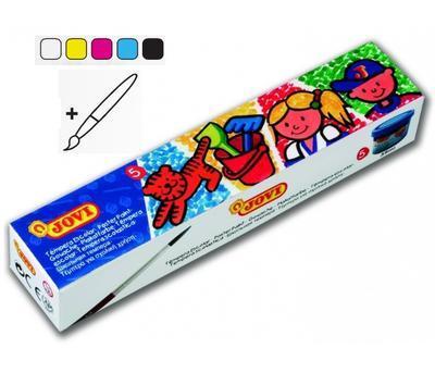 Jovi Temperové barvy 5 x 35 ml v kelímku + štětec - 1
