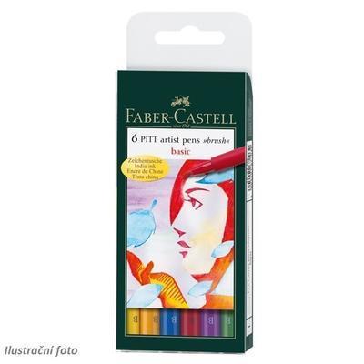 Faber-Castell PITT Artist Pen Brush - Basic 6 ks - 1