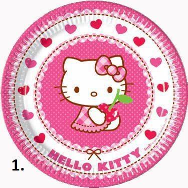 Papírové talíře 23 cm, 8 ks - Minnie's Cafe 23  - 1