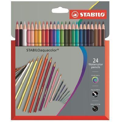 STABILOaquacolor Sada pastelek - 24 ks