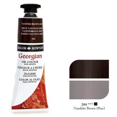 Daler & Rowney Georgian Oil 38ml - Vandyke Brown 264, olejová barva - 1
