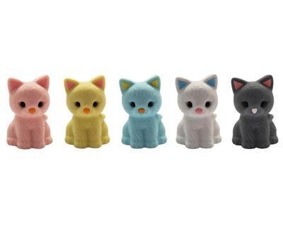 Gumovací figurky 1ks/bal - kočka/ různé - 1