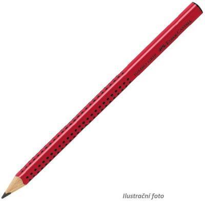 """Faber-Castell Grafitová tužka Jumbo Grip červená - tvrdost B i pro """"L"""""""