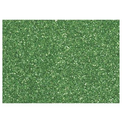 Moosgumi s glitry 20x30 cm, 2 mm - zelená tmavá - 1