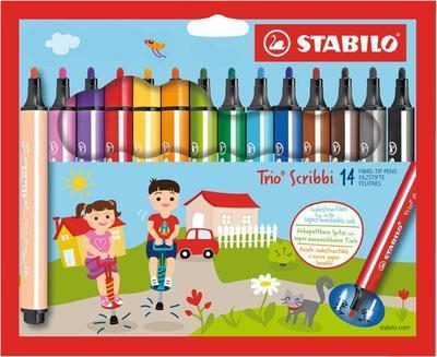 Stabilo Trio Scribbi 368/14-01 Fixy odpružený hrot - 14 ks  - 1