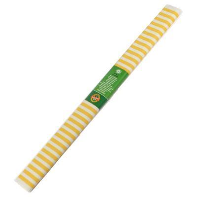 Koh-i-noor Krepový papír 9755/68 - pruhovaný žluto bílý