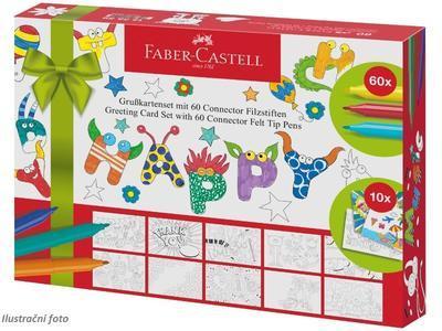 Faber-Castell Popisovače CONNECTOR 60ks + Kartičky - 1