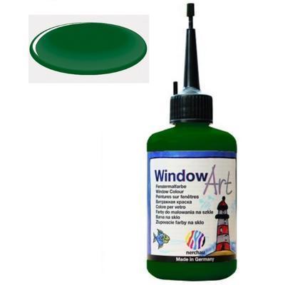 Barva na sklo Window Art  80 ml - zelená tmavá