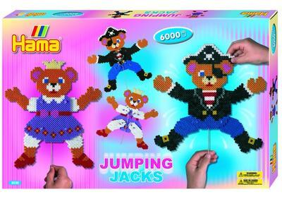 Hama Midi Velká dárková sada - JUMPING JACKS, 6000 ks - 1