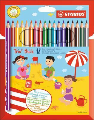 Stabilo Trio Silné pastelky 203/18-01 Sada 18 ks i pro leváky
