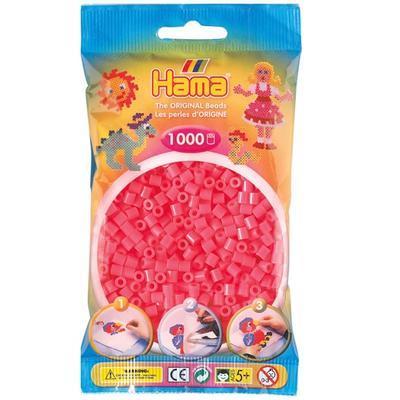 Hama MIDI Zažehlovací korálky  1000 ks - červenorůžové