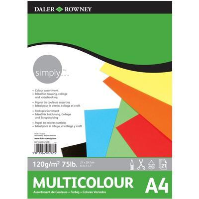 SIMPLY Multicolour Barevný skicovací blok - 21 listů, A4