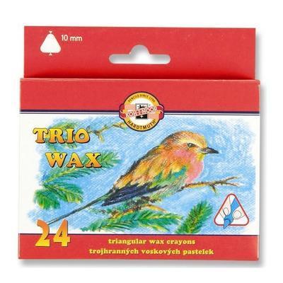 Trojhranné voskovky Trio Wax - silné 10 mm, 24 ks - 1