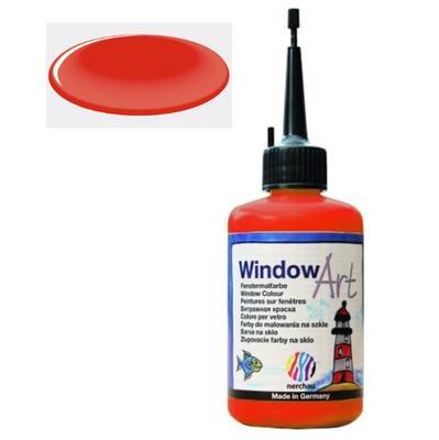 Barva na sklo Window Art  80 ml - červená