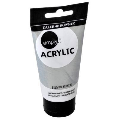 Daler & Rowney Simply Acrylic 75 ml - silver(imit) 702 - 1