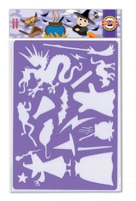 Šablona plast 16,5 x 26,5 cm - Magie