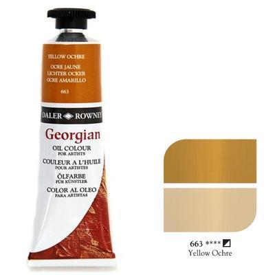 Daler & Rowney Georgian Oil 38ml - Yellow Ochre 663, olejová barva - 1