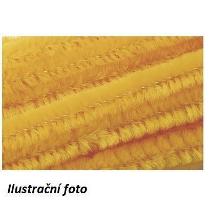 Žinilkový drát průměr 8mm, délka 50cm, 10ks - zlatožlutý