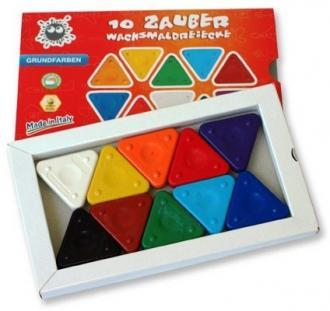Triangle Magic Basic Trojboké voskovky - včelí vosk, sada 10 ks