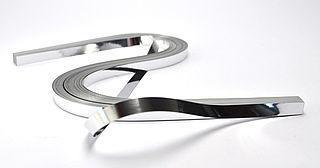 Proužky na Quilling metal stříbrné  53 x 0,6 cm,100 ks
