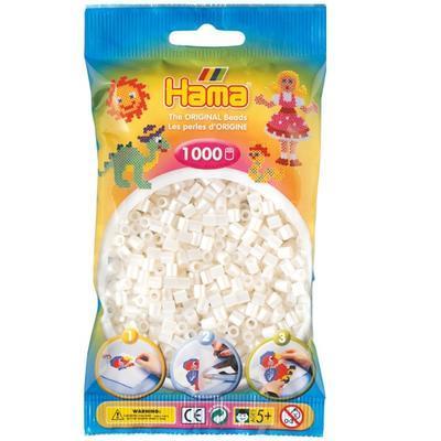 Hama MIDI Zažehlovací korálky 1000 ks - perleťové bílé