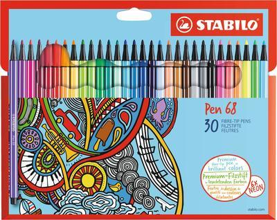 Stabilo Pen 6830-7  Sada 30 ks - 24 barev + 6 neonových - 1