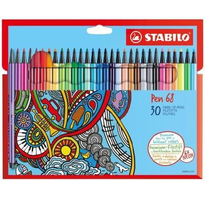 Stabilo Pen 6830-7  Sada 30 ks - 24 barev + 6 neonových