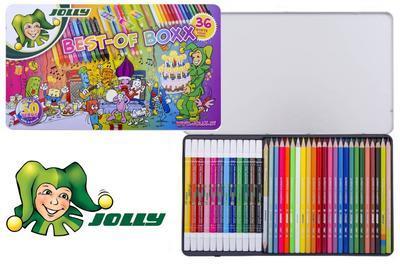 Jolly Best-of Boxx - Sada pastelek a fixů, 36 ks - 1