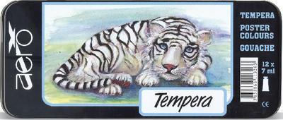 Aero Temperové barvy v kovové krabičce sada 12x7 ml Tygřík - 1