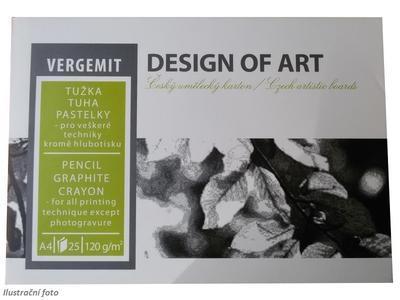 Blok náčrtkový Vergemit A4, 120 g/m2, 25 listů