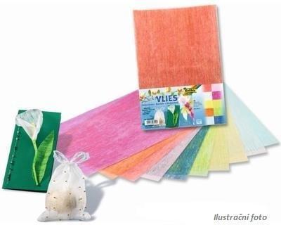 Dekorativní hedvábný, průsvitný papír - 23x33cm, 10 barev   - 1