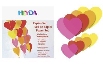 List origami srdce 40ks - žlutý/oranž/růžový/červený
