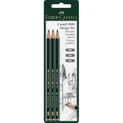 Grafická tužka CASTELL 9000 Design Set 3 ks,blistr