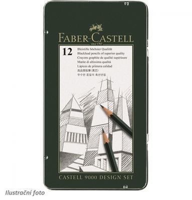 Faber-Castell Sada tužek Castell 9000 Design Set - 12 ks v kovové krabičce
