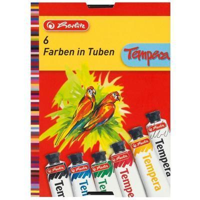 Tempery 6 barev v tubách po 16 ml