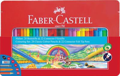 Faber-Castell Dárková sada popisovačů a pastelek +příslušenství
