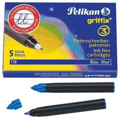 Pelikan Náplně do rolleru Griffix 3 - modré, 5 ks