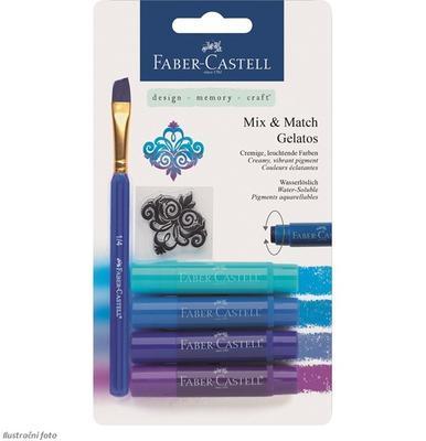 Pigmentové tyčinky GELATOS 4 ks + štětec - odstíny modré