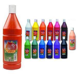 Jovi Temperové barvy  1000 ml v lahvi - červená - 1