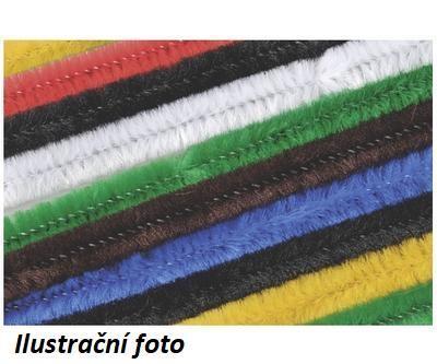 Žinilkový drát průměr 8mm, délka 50cm, 10ks - mix barev