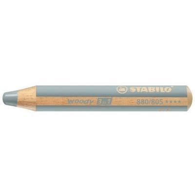 Stabilo WOODY 880/805 Pastelka 3v1 - stříbrná