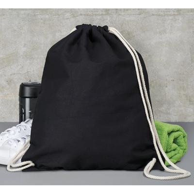 Bavlněný batoh 140 g/m2, 37x48 cm - černý - 1