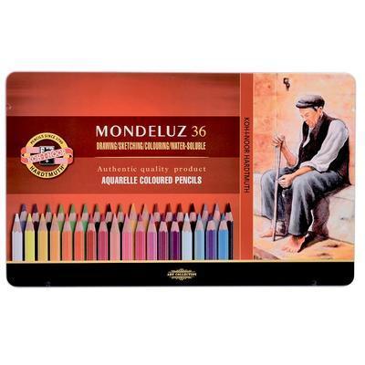 Mondeluz Akvarelové pastelky - 36 ks v plechu - 1
