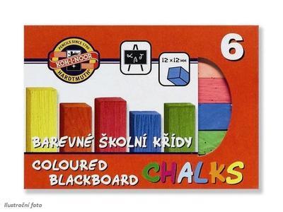 Koh-I-Noor Křídy školní barevné - 6 ks