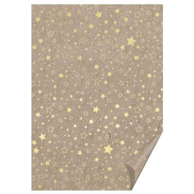 Karton A4 220g/m2 - hvězdičky, zlaté/béžové