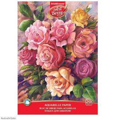 Blok na akvarelovou malbu - Růže A4, 180 g/m2, 20 listů