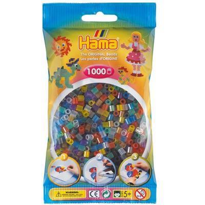 Hama MIDI Zažehlovací korálky  1000 ks - mix průhledných barev   - 1