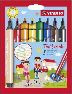 Stabilo Trio Scribbi 368/8-01 Fixy odpružený hrot, 8 ks i pro L - 1