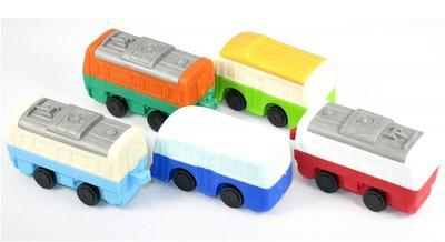 Gumovací figurky 1ks/bal - vlak a autobus/ různé - 1
